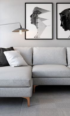 *Leg style* Unwind with the Sophia Sectional in Linen Blend Fog Grey Living Room Furniture, Home Furniture, Living Room Decor, Living Spaces, Grey Living Room Paint, Living Room Inspiration, Interiores Design, Apartment Living, Decoration