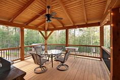 Screened Porch Designs, Screened In Deck, Back Porch Designs, Porch Addition, Screen House, Building A Porch, Covered Decks, Covered Deck Designs, Covered Porches