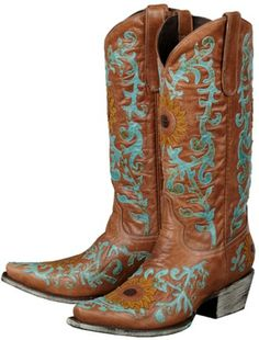 Lane Sunflower Cowgirl Boots