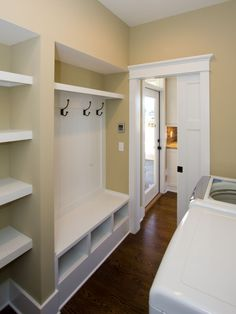 Vamp up your old Laundry room into something like this! Then call Junk King Atlanta to haul away the debris at 1-888-888-JUNK