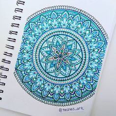 Blue and green mandala #zentangles #zentangle #zentangleartist #zentangleart #zenart #zenartist #zendala #mandala #mandalas #mandalaart #linework #pigmamicron #drawing #zendoodle #doodleart #doodleartenthusiasts #doodleartist #artist #art #iblackwork #instartlovers #worldofartists #draw