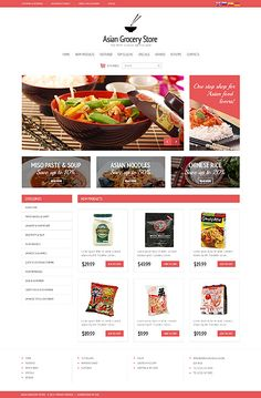 Asian grocery store - OSCommerce Main Page preview #website #web #webdesign
