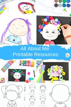 Start the school year with an All About Me Project. The All About Me printable book consists of several engaging and fun drawing activities for kids. All About Me Crafts, All About Me Book, All About Me Preschool, All About Me Activities For Preschoolers, Easy Art For Kids, Diy Gifts For Kids, Crafts For Kids To Make, Kids Craft Box, Drawing Activities