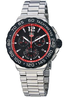 Tag Heuer CAU1116.BA0858 Watches,Men's Formula 1 Chronograph Black Dial Stainless Steel, Chronograph Tag Heuer Quartz Watches