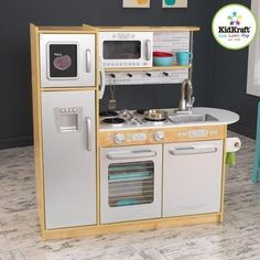 KidKraft Uptown Natural Wooden Play Kitchen , Brown/Gray *** Click on the image for additional details.
