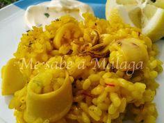 Me sabe a Málaga: Arroz con calamares