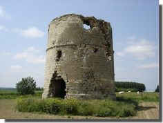 Avesnes le Sec mill ruins, strategic observation point during the Battle of Denain in 1712. Denain, Nord Pas de Calais, France.