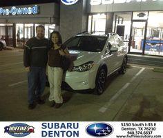 https://flic.kr/p/DCBMNm | Happy Anniversary to Justin on your #Subaru #XV Crosstrek from Mike Bresnahan at Huffines Subaru Denton! | deliverymaxx.com/DealerReviews.aspx?DealerCode=XDJB