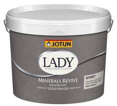 Detale CPH maling og spartel giver din væg et flot beton look Jotun Lady, Coffee Cans, Paint Colors, Supreme, Concrete, Minerals, Painting, Lady Lady, Bruges