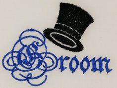 Digital Embroidery Designs Groom Script by EmbroideryDesignsBRN