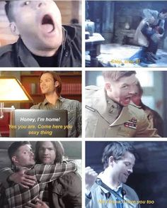 The season 8 gag reel will always be my favorite. Cas...you're my baby daddy!