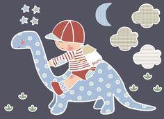 Vinilo infantil con dinosaurio para Marc