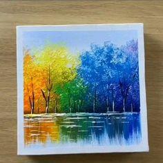 Deze hebben we gemaakt Easy Canvas Art, Small Canvas Art, Easy Art, Canvas Ideas, Canvas Painting Tutorials, Painting Techniques, Painting Art, Painting Flowers, Painting Tools