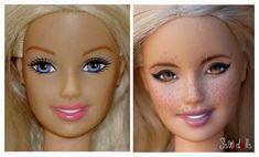 70 Ideas For Doll Cute Makeup Eye Shadows Doll Clothes Barbie, Barbie Dolls, Mattel Barbie, Doll Dresses, Custom Barbie, Custom Dolls, Vintage Barbie, Doll Repaint Tutorial, Doll Tutorial