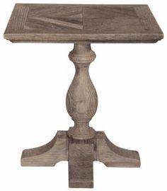 Meuble Table bistrot Carrée - Vieux bois - CABANE - Mobilier Tables Signature
