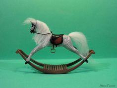 Riders By The Shore Miniature Dollhouse Horse Picture