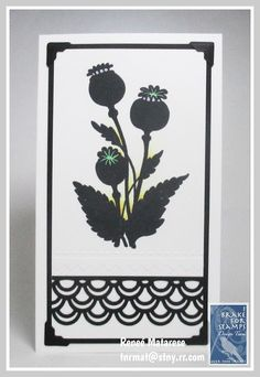 Renlymat's World: I Brake for Poppy Silhouettes! Poppy Pods set from I Brake for Stamps. Flower Cart, Flower Pots, 9th Birthday, Happy Birthday, 1st Christmas, Clay Pots, My Stamp, Happy Saturday, Cupid