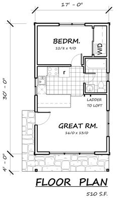 Cabin Floor Plans small cabin home plan with open living floor plan Cabin House Plan 74300