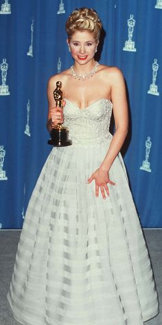Armani's 40 Best Red Carpet Looks of All Time - Mira Sorvino, 1996 from #InStyle