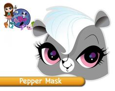 Free Pepper the Skunk Littlest Pet Shop printable face mask...