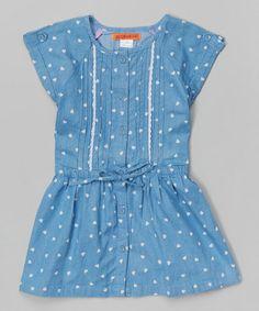 This Blue Denim Polka Dot Romper - Toddler & Girls is perfect! #zulilyfinds