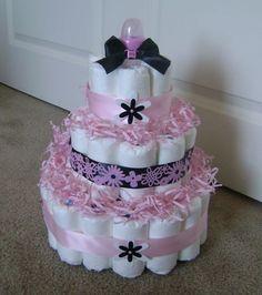 cute diaper cakes -
