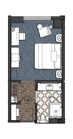 Higgins Hotel & Conference Center, New Orleans Standard King - Floor Plan - Hotel Room Master Bedroom Addition, Master Bedroom Plans, Master Bedroom Layout, Bedroom Floor Plans, Bedroom Layouts, Master Suite Floor Plan, Hotel Floor Plan, Room Planning, Design Hotel