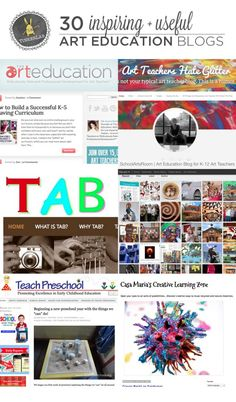 Here is a blog for all you Art Teachers -30 of the best, inspiring and useful art education blogs   TinkerLab.com