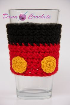 Crochet Mouse Pants Coffee Cup Cozy by Dana Crochets. $10.50, via Etsy.