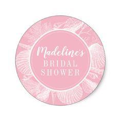 #Ocean Elements Circle   Bridal Shower Classic Round Sticker - #beach #seashell #gifts #ocean #sea Diy Wedding, Wedding Gifts, Wedding Day, Wedding Gift Wrapping, Freedom Design, Round Stickers, Cool Diy, Craft Supplies, Bridal Shower