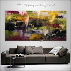72 Large Wall Art ABSTRACT PAINTING Acrylic Wall by largeartwork