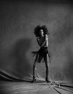 EDITORIAL+COVER: Dilone in Elle France December 30th, 2016 by Peter Lindbergh—La Magie Alaïa —  Photography: Peter Lindbergh,  Model: Dilone,  Styling: Carlyne Cerf De Dudzeele,  Hair: Odile Gilbert,  Make-Up: Sabrina Bedrani,  Set Design: Alaïa Azzedine.