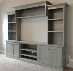 Built-in Entertainment Center Ideas. Find ideas and inspiration for Built-in Entertainment Center Ideas to add to your own home. built in 7 DIY Entertainment Center Ideas to Design at Home New Homes, Room Design, Built Ins, House, Built In Entertainment Center, Home, Living Room Tv, Family Room, Family Room Design