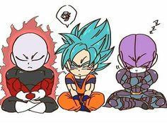 Chibi Jiren, Goku and Hit Anime Chibi, Goku Chibi, Anime Kawaii, Dragon Ball Gt, Dragon Ball Image, Foto Do Goku, Vegito Y Gogeta, Super Anime, Pokemon