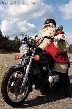 Biker Santa – Santa Claus on the road again in Lapland in Finland