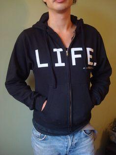 """LIFE."" Zip-up Hooded Sweatshirt"