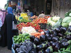 A market in Nablus Palestine