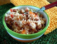 Spanish Rice with Pinto Beans Recipe - Side Dish- Vegan in the Freezer