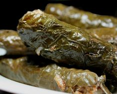 Grapeleaves! My absolute favorite Mediterranean food. (This is the vegetarian version...lamb or beef are also delicious!)