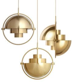 Multi-Lite Pendant | Designed by Louis Weisdorf  | From Gubi | Brass