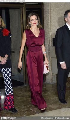 Queen Letizia red jumpsuit