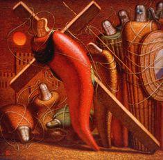 Несение креста. 1994, холст, масло, 100х100 Painting, Art, Art Background, Painting Art, Kunst, Paintings, Performing Arts, Painted Canvas, Drawings