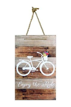 Enjoy The Ride Wood Sign on @HauteLook