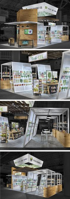 Food trade show booths are our bread & butter. Condit designed and fabricated this new, custom food exhibit for Fresh Gourmet. The booth debuted at the 2017 PMA show and achieved an elevated grocery shopping experience that felt both rustic and modern.