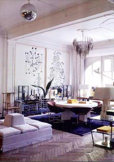 swanky space... cool purple rug