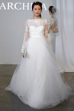 Beautiful lace long sleeves wedding dress from Marchesa Spring 2015 Bridal  Collection Marchesa Spring 278f6df1118d