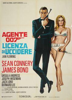 """1. """"Agente 007 - Licenza di uccidere"""" ( """"Dr. No"""") -1962 - con Sean Connery, di Terence Young"""