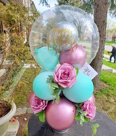 Balloon Box, Balloon Display, Balloon Gift, Balloon Flowers, Balloon Decorations Party, Paper Flowers Diy, Balloon Bouquet, Balloon Garland, Flower Bouquet Diy