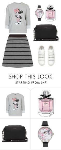 """""""Casual 25"""" by aki-g ❤ liked on Polyvore featuring Topshop, Gucci, Olivia Burton and Oasis"""