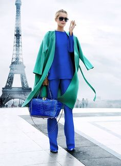 How to Wear Dress Pants For Women looks & outfits) Blue Fashion, Colorful Fashion, Winter Fashion, Fashion Top, French Fashion, Mode Outfits, Fashion Outfits, Womens Fashion, Fashion Trends